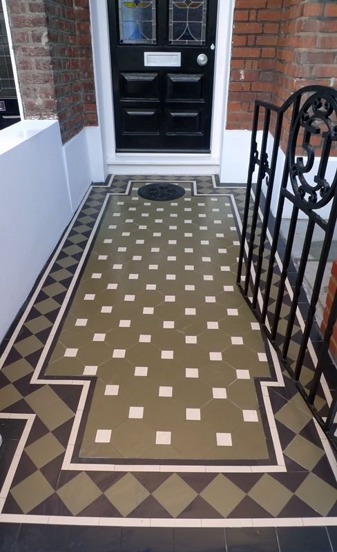 Victorian tile path in London