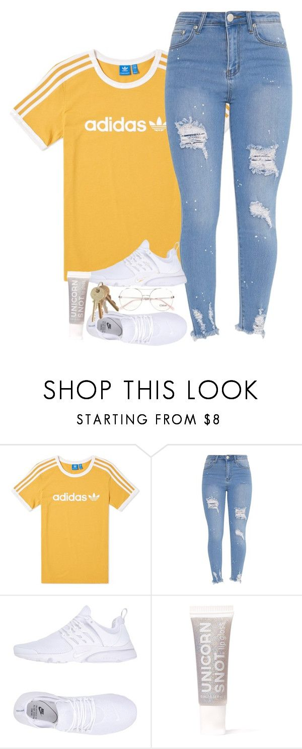 """Adidas shirt and Prestos"" by azriecutie ❤ liked on Polyvore featuring adidas, NIKE, FCTRY and Chloé"