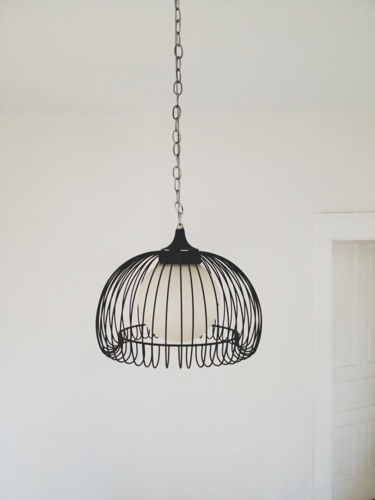 vintage hanging cage lamp with chain home pinterest. Black Bedroom Furniture Sets. Home Design Ideas