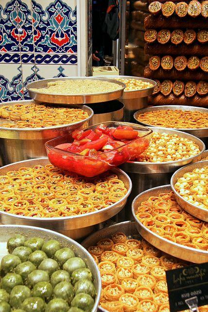 Turkish sweets shop . Istanbul