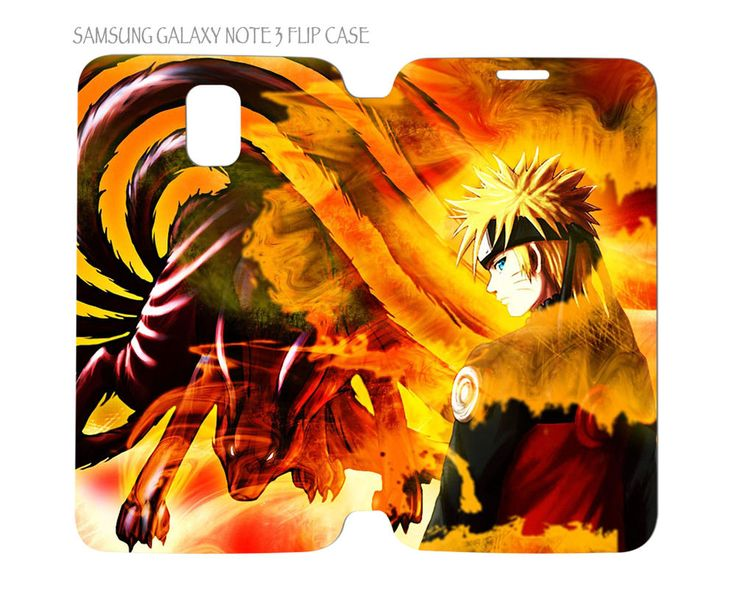 Samsung Galaxy Note 3 Flip Case Folio Cover Naruto Anime #QuinnCafe
