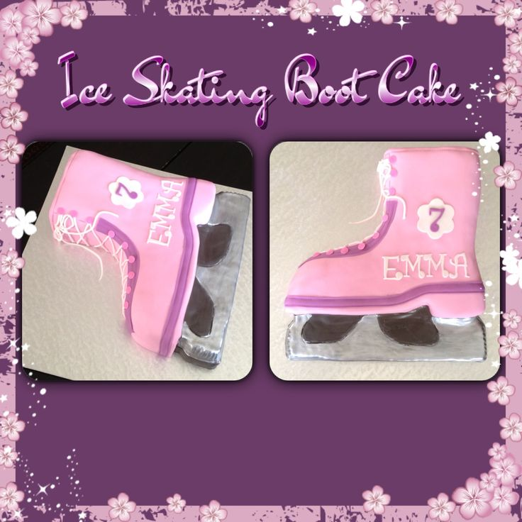 Ice Skating Boot Cake