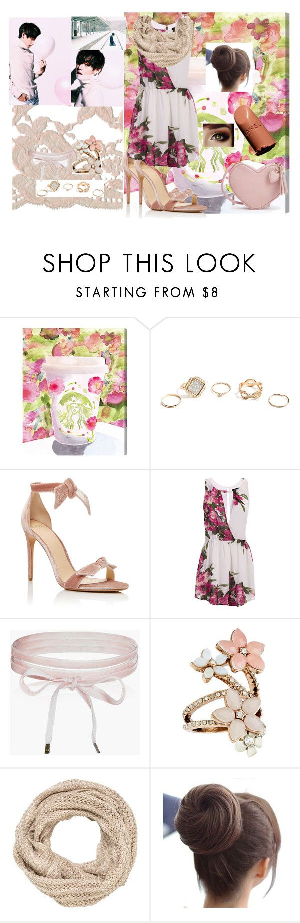 """""""Date with kim taehyung aesthetic"""" by mmtoocute ❤ liked on Polyvore featuring Oliver Gal Artist Co., GUESS, Alexandre Birman, Boohoo, Accessorize, maurices and Chanel"""