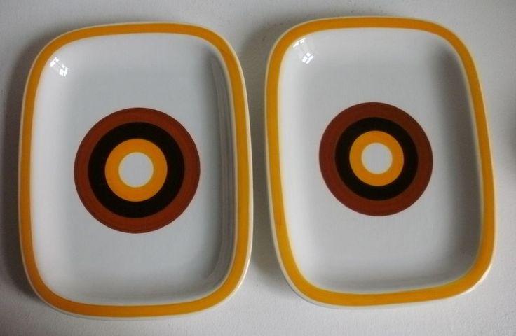 2 Servierplatten  Rörstrand Fokus 60/70er Jahre Carl-Harry Stalhane