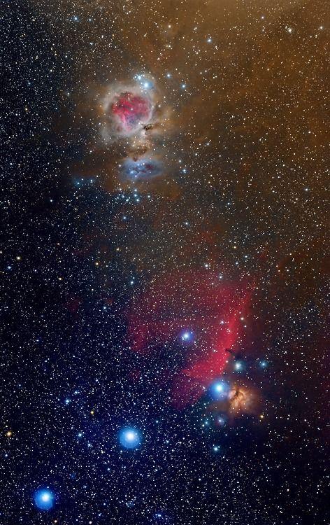 Orion's Belt, Horse Head Nebula, and M42. Credit: Emil Ivanov