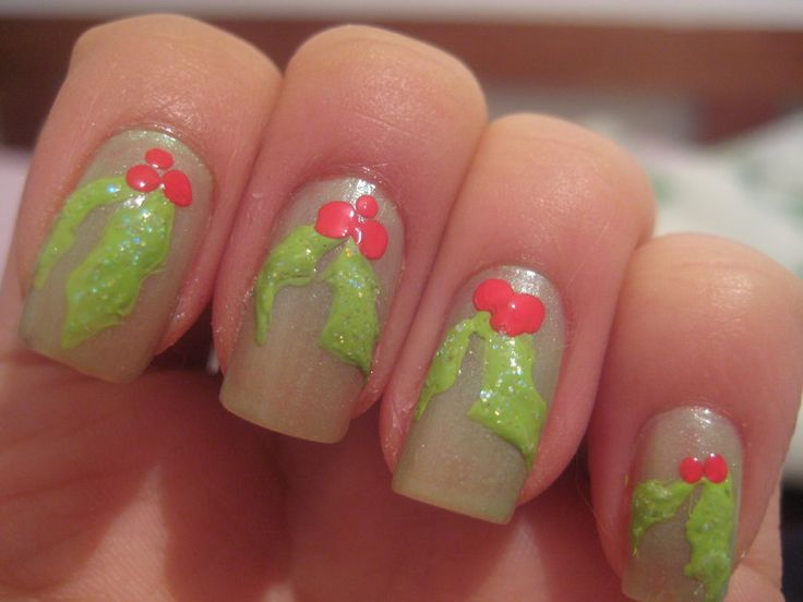 18 best xmas mistletoe images on pinterest christmas xmas nail art mistletoe prinsesfo Image collections