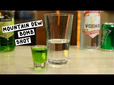 Mountain Dew Bomb Shot 1 Oz 30m Vodka 1 Shot Melon Liqueur 1 2 Pint Lemon Lime Soda Preparation 1 Fill Shot Glass W Bomb Shots Mountain Dew Lemon Lime Soda