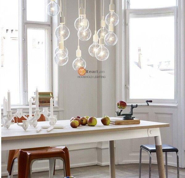 Красочные подвеска лампа современного старинные эдисон луковицы бар ресторан спальни большой торговый центр Muuto E27 искусства ( DO 51 ) купить на AliExpress
