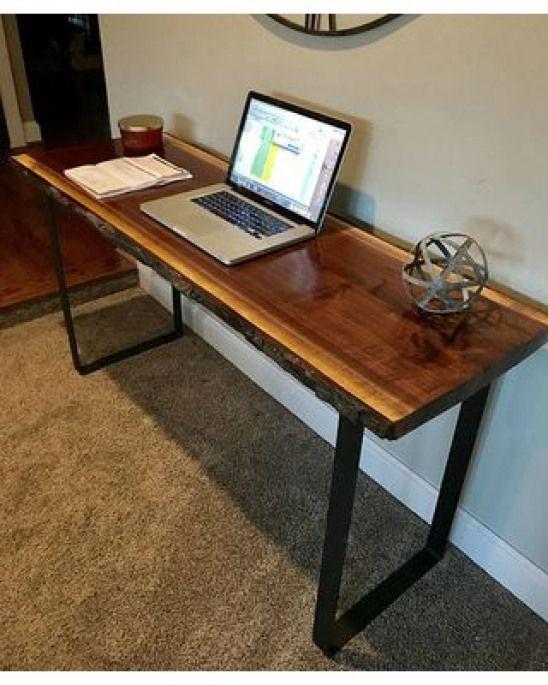 on sale your custom desk live edge desk black walnut desk modern rh pinterest es