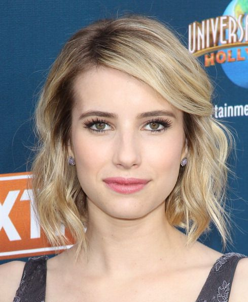 """Emma Roberts promoting """"Palo Alto"""" on """"Extra."""" Hair by Riawna Capri. Makeup byDawn Broussard. Styled by Emily and Meritt."""