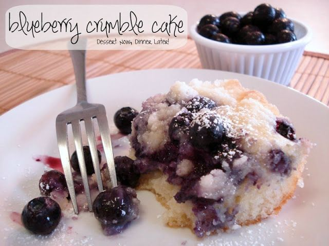 Blueberry Crumble Cake - Dessert Now, Dinner Later!