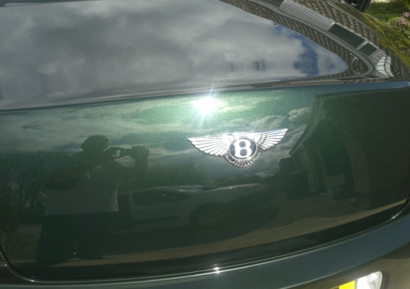 Nice shine off this Bentley Continental Boot!