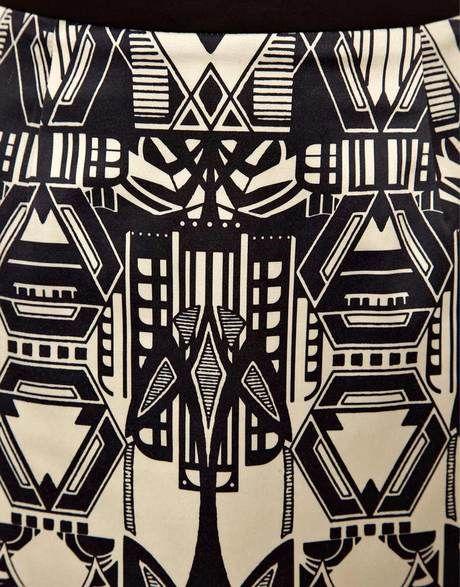 Asos mini skirt in art deco design