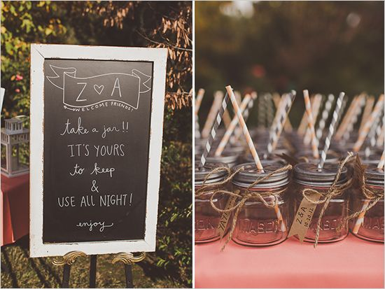 mason jar wedding favors and oh so much more, watch their wedding video too!