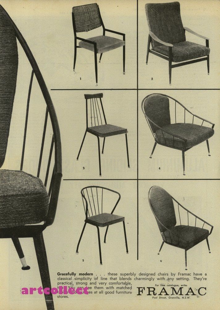 Original Vintage Australian AD Framac Chairs 1960 | eBay
