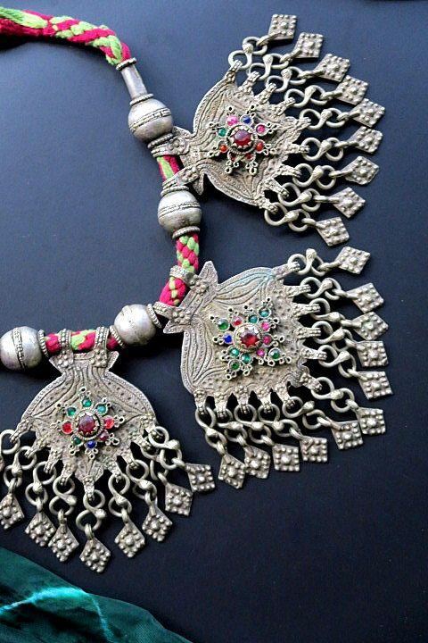 Vintage Kuchi Tribal Jewelry Necklace from Kashmir