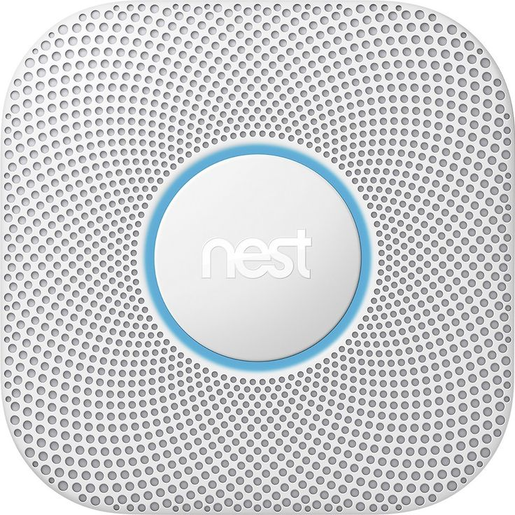 Nest Protect Smoke and Carbon Monoxide Alarm — 2nd Generation (Wired 120V): The Nest Protect smart smoke/CO alarm reliably detects and alerts you to the presence of smoke or carbon monoxide in your home. The alarm speaks to you in a calm, clear, human voice, telling you the location of the danger. It also provides smartphone alerts and battery status updates to help protect your home while you're away. This hardwired version is suitable for homes with existing hardwired smoke or CO…