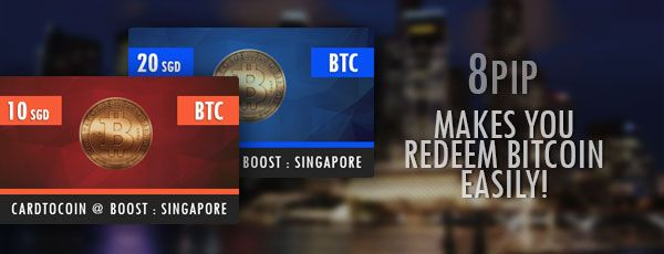 A Singapore-based startup launched May 7 in two separate events the world's first Bitcoin prepaid cards in aim to make the acquisition of the virtual currency easier and simpler. 8pip, a CoinPip-affiliated company, unveiled the Bitcoin prepaid cards at Startup Asia Singapore 2014, a two-day conference showcasing new tech startups, and at Boost: Bitcoin event, Singapore's first event focused on celebrating and promoting the use of cryptocurrencies.