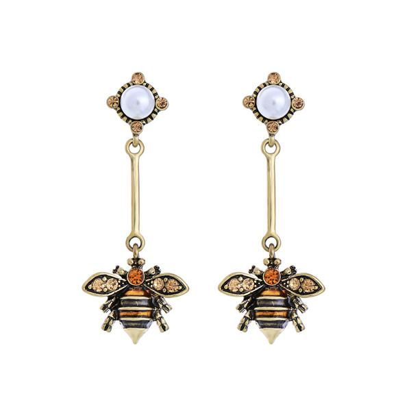 Outflower Earrings of Bees Cute Animals of Fashion Elegant Birthday Gift of Earrings Womens Jewellery yellow