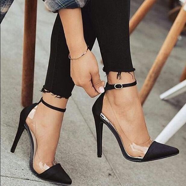 Zapatos mujer tacones finos zapatos de gelatina para mujer …   – Mode Genie
