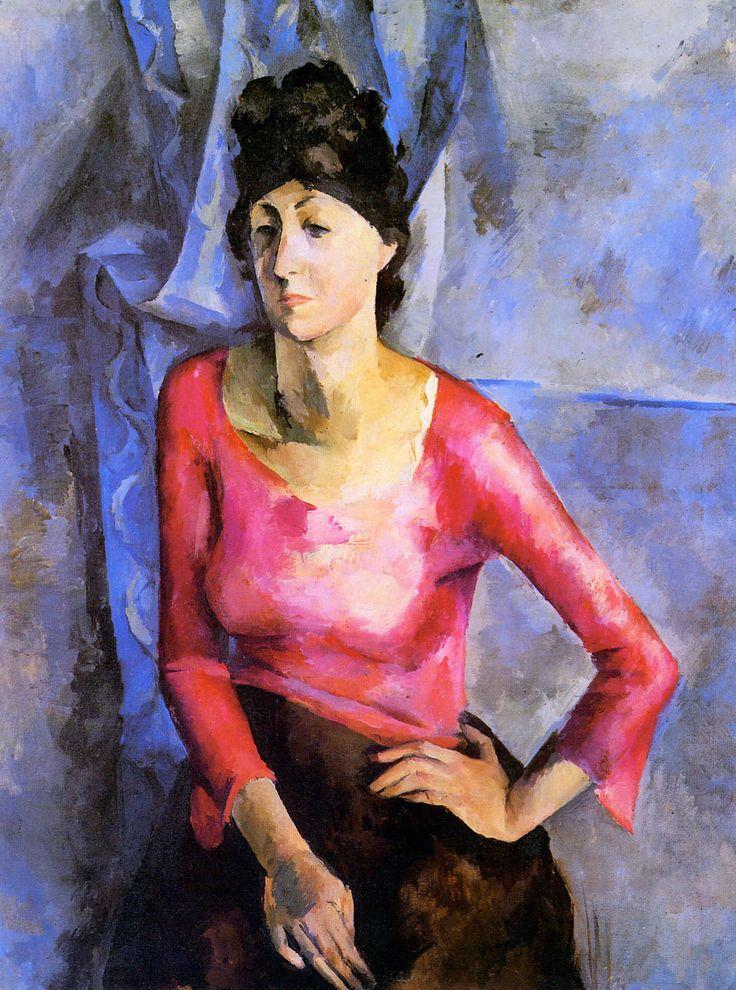 Александр Осмёркин «Портрет Е.Т.Барковой» 1921 г.
