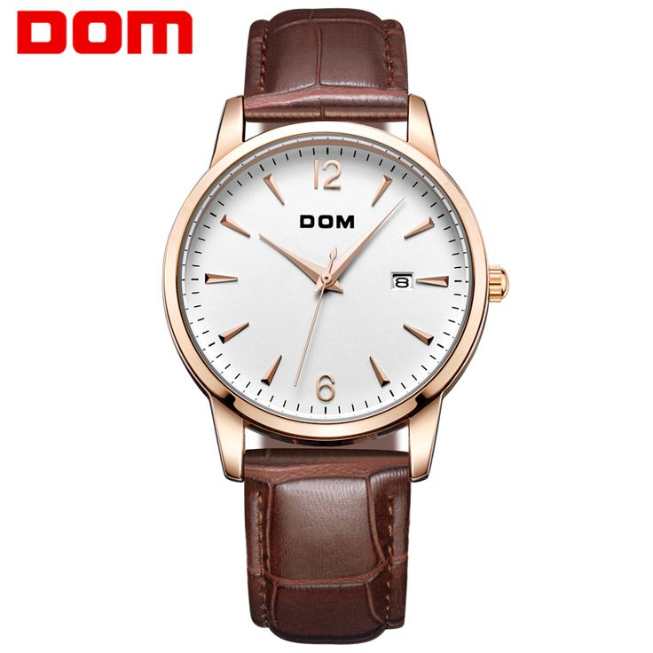 >> Click to Buy << DOM Waterproof Mens Watches Top Brand Luxury Watch Leather Male Clock Business Quartz Watch Reloj Hombre 2017 Dress Montre Homme #Affiliate