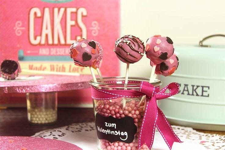 Sallys Blog - Valentinstags-Cakepops mit Schokolade