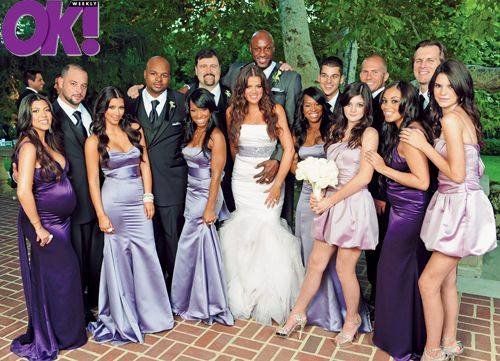 khloe kardashian wedding pics | Wedding colours was Wedding Bells favorites colours!! Purple variation