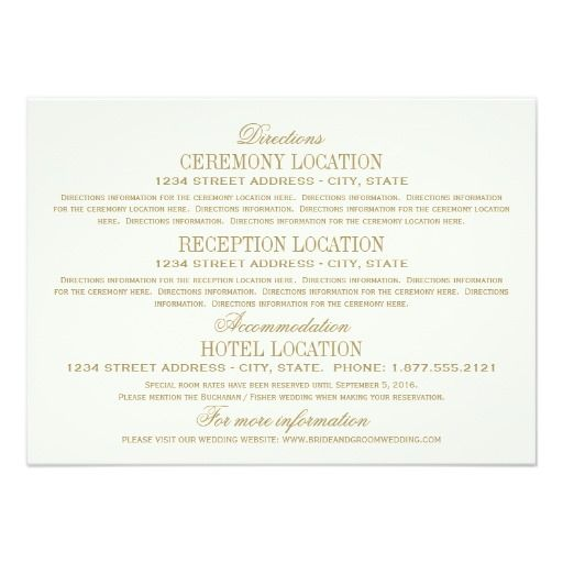 414 best wedding reception cards images on pinterest wedding wedding information cards antique gold stopboris Choice Image