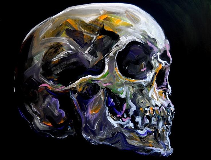 """Courage is grace under pressure."" - #ErnestHemingway #skulls #art http://awakenyc.com/"