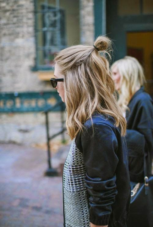 We're seeing the half-up top-knot everywhere! Have you tried this look?