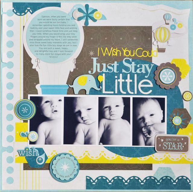 Dream Blog Hop Scrapbook Layout Project Idea from Creative Memories @Gina de Villiers Williams #baby