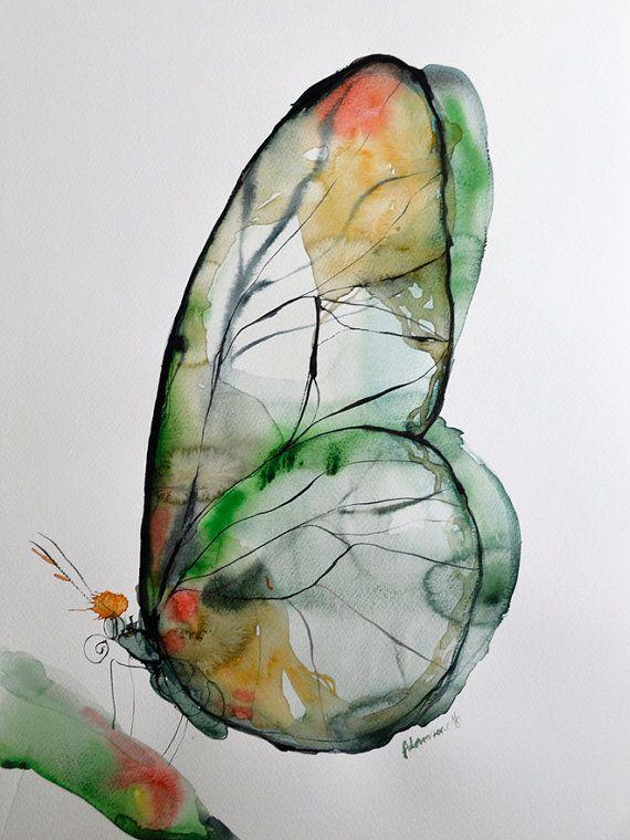 #ArtInspiration - Original watercolor by Alisa Adams one Art from Latvia.