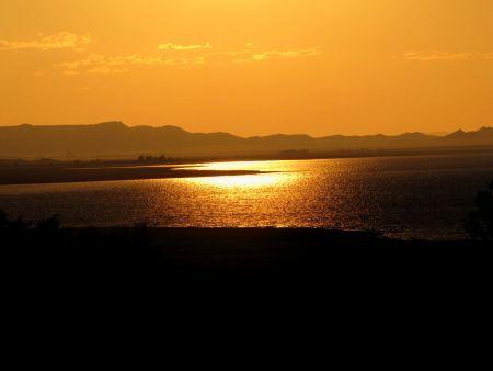 Sunset over Gariep Dam South Africa