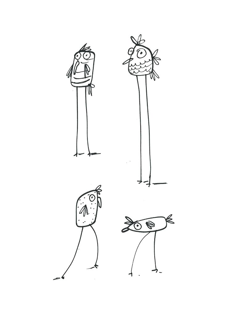 doodles behance line simple quirky drawings watching thanks