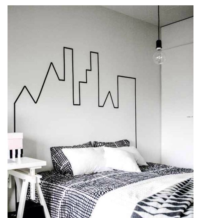Tape a city line to have a interesting flow in your room