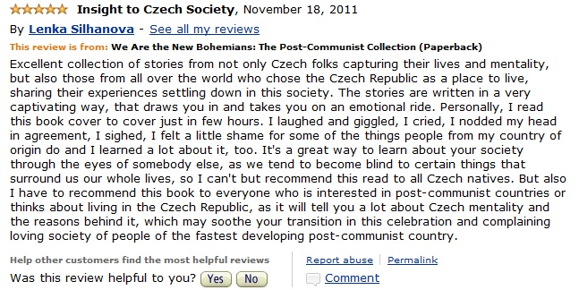 A kind review of my second short story anthology We Are the New Bohemians: The Post-Communist Collection.
