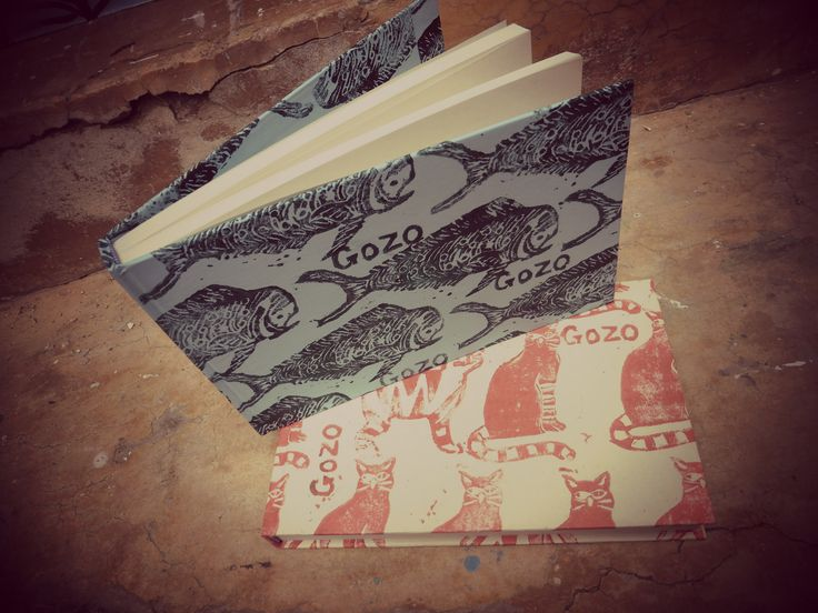 hand printed sketch books, inspired by gozo life