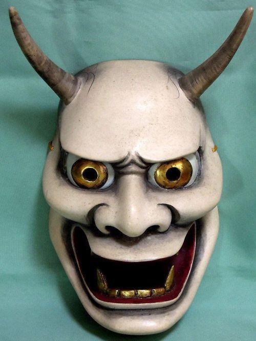 Traditional Kabuki Masks | 19th c. NOH MASK ANTIQUE JAPAN KO-OMOTE WOODEN JAPANESE THEATER ASIA ...