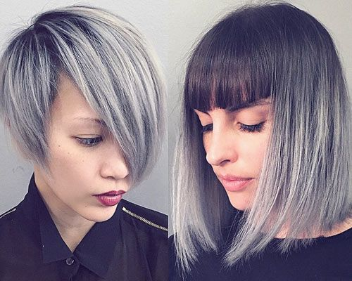Best 25+ Gray Hair Colors Ideas On Pinterest
