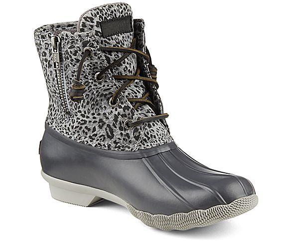 Women's Saltwater Cheetah Duck Boot - Boots | Sperry