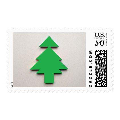 christmas tree tangram postage