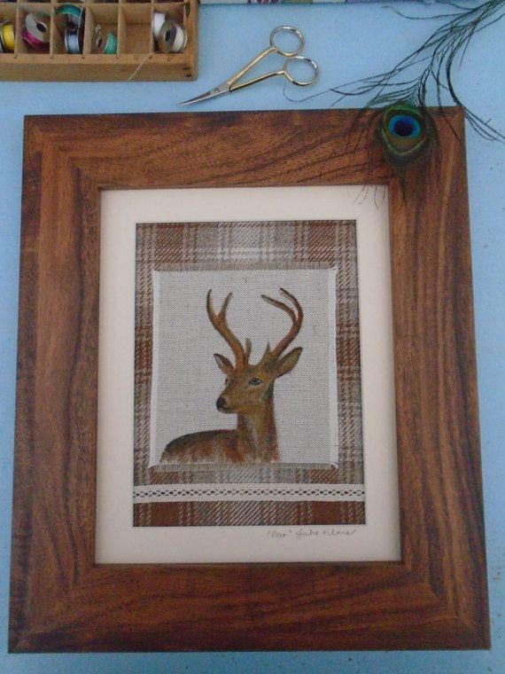 Original Handmade Fabric Framed Art Piece by PeacockEmporiumLady
