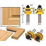 AccOED 2Pcs 1/2 Shank Rail & Stile Router Bits Shaker Woodworking Chisel Cutter Tool