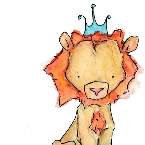 Royal Lion  8x10 Children Art Print by trafalgarssquare