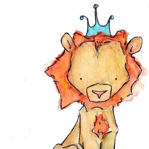 Royal Lion  8x10 Children Art Print. $20,00, via Etsy.