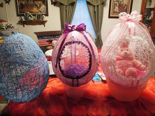 String Baskets make wonderful Easter gifts, especially if filled with home made candy..