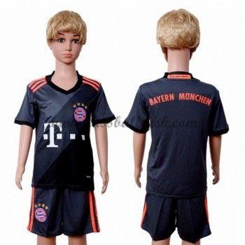 Kinder Fussball Trikot Bayern Munich 2016-17 Auswärts Trikotsatz Kurzarm