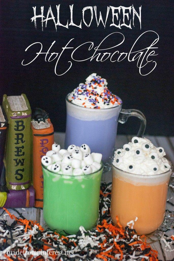 Halloween Hot Chocolate in darling Halloween colors!