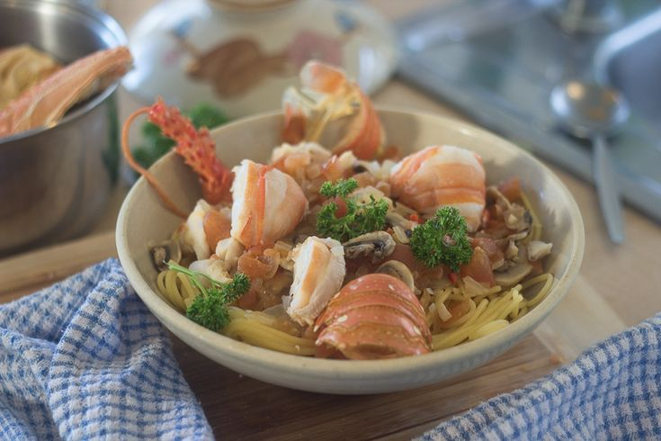 Spaghetti with Lobster- the Australian experience | G'day Soufflé